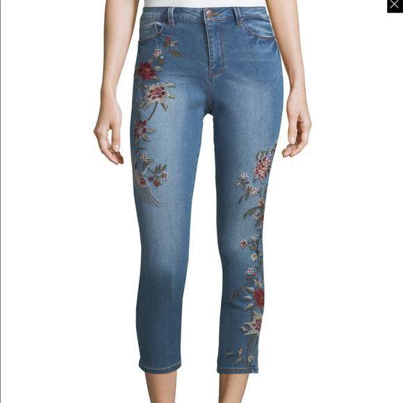 289057899 Nanette Lepore Jeans | Embroidered | Poshmark